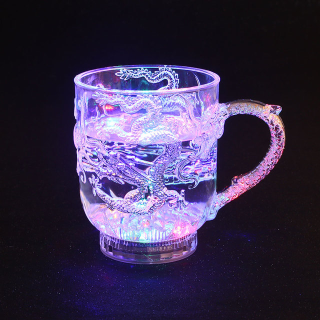 Led Universal Wine Glass for Dragon Cool for Cup Cutlery Decoration Luminous Cup Tableware Activated Light Up
