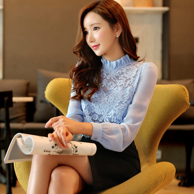 Original New 2016 Brand Spring and Autumn Robe Femme Long Sleeve Plus Size Slim Vintage Casual Lace Office Dress Women