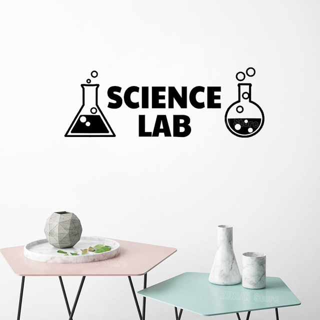 Science Lab Vinyl Wall Decals Science Classroom Decor Decal Chemistry Art Sticker Mural Home Decor Bedroom Boys Girls Room S564