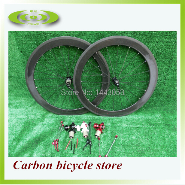 Click and get suprise!!! Full carbon wheelset, 60mm clincher, 700C road bike full carbon wheels