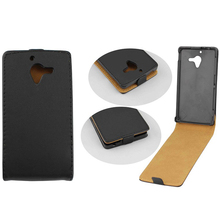 Genuine leather Case For Xperia ZL Flip Pouch Case Cover for Sony Xperia ZL L35H Vertical Case Free Shipping