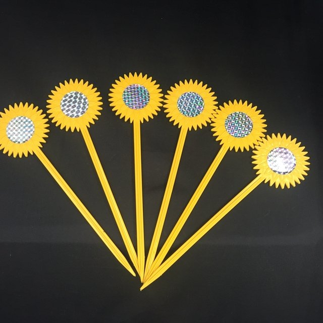 Bird Repellent (6 pack) The Original Sunflower Reflective Repeller Keeps All Kind Of Birds Away from Your Property