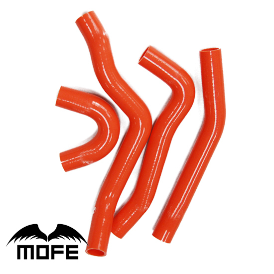 Mofe 4pcs Green Red Blue  Silicone Water Radiator Coolant Heater Hose Kit For Lancer EVO 10