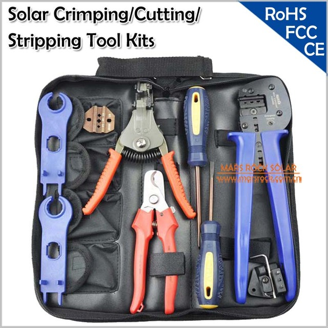 Crimping/Cutting/Stripping for Solar PV Tool Kits
