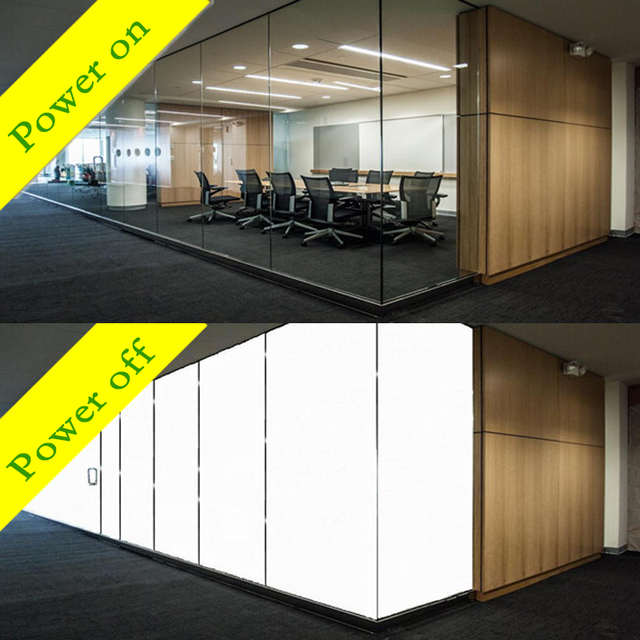 PDLC Smart Fillm Switchable Glass Film Custom any Size and Shape power on-transparent power off-opaque  A4 sample