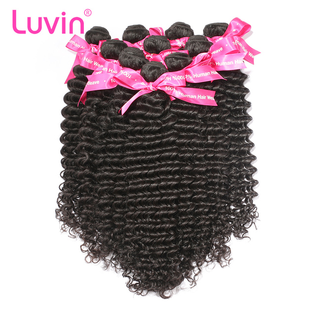 Luvin 10pcs Lot Human Hair Peruvian Virgin Hair Deep Wave Factory Price With Shipping Free