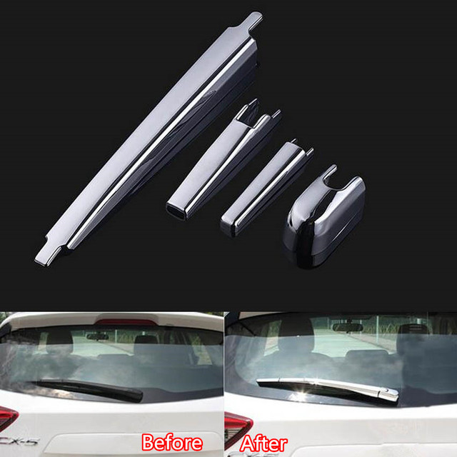 YAQUICKA Fit For Mazda CX-5 CX5 2015 Car Exterior Rear Back Trunk Window Rain Wiper Cover Trim Styling ABS Accessories