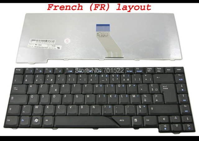 New NOtebook Laptop keyboard for Acer Aspire 4530 4710 4720 4930G 4710G 5300 5730 5732 5739 6935 Black French FR AZERTY Clavier