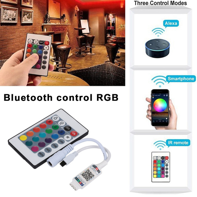 LED Bluetooth Controller Bluetooth Controller Smart with Remote Control RGB LED Strip Light 5050 Music Controller 3528