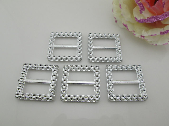 (AB46 20mm)20pcs Square Acrylic Buckle For Wedding Invitation Card