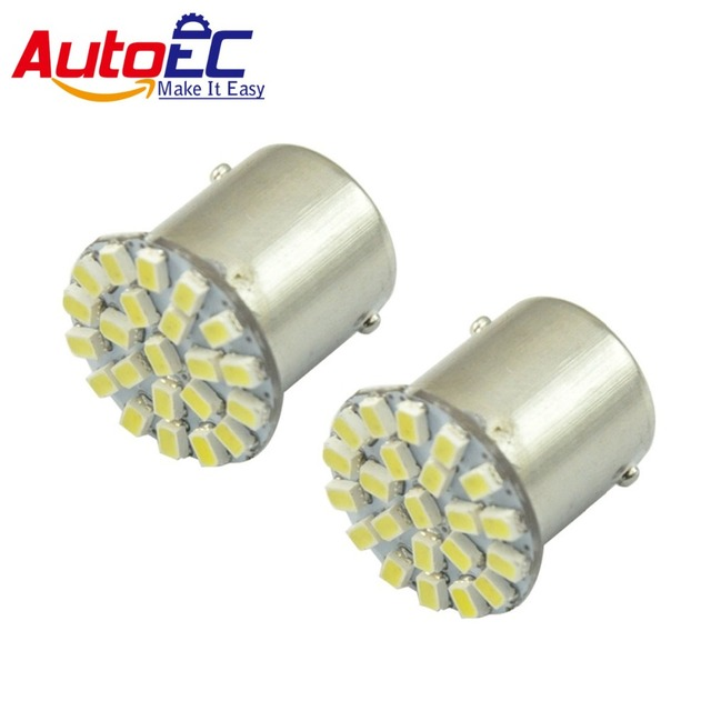 AutoEC 100x 1156 1157 ba15s bay15d 22 SMD 1206 bulb Car Brake Lights lamp bulb DC12V #LF01