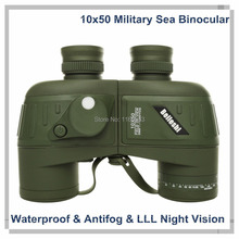 10x50 Green Binocular Telescope Fine Tuning  Sea Waterproof & Antifog telescope Lower Level Light LLL Night Vistion