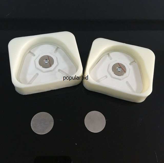 2pcs Dental Lab Magnetic Silicone Plaster Model Former Base Molds Full Arch