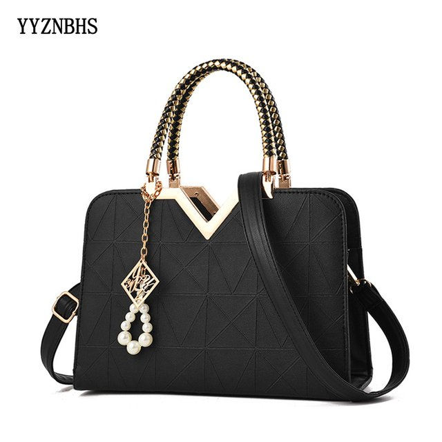 Fashion Luxury Women Handbag PU Leather Shoulder Bag Ladies Large Capacity Crossbody Hand Bags For Women 2019 V Bags Sac A Main