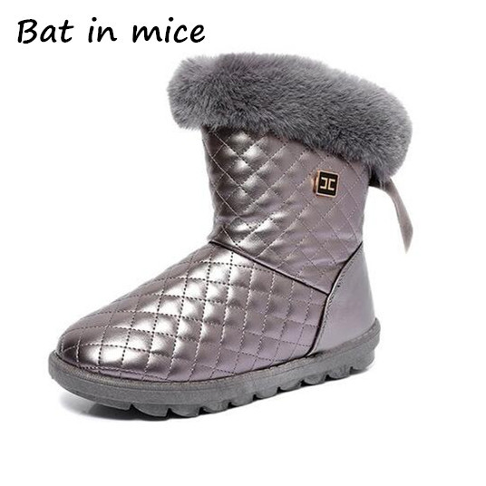 Hot Sale Shoes Women Boots Solid Slip-On Soft Cute Women Snow Boots Round Toe Flat with Winter Fur Ankle Boots Z260