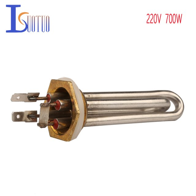 "Isuotuo 700W 32mm flange electric heating element for water dispenser,1.0"" hexagonal head water machine tubular heater element"