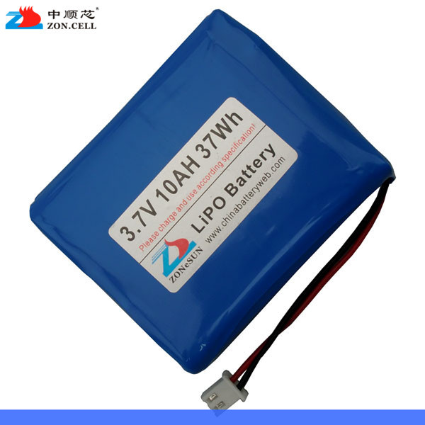 In the 10000mAh 3.7V large capacity lithium polymer battery backup power supply of 10AH mobile charging treasure Rechargeable Li