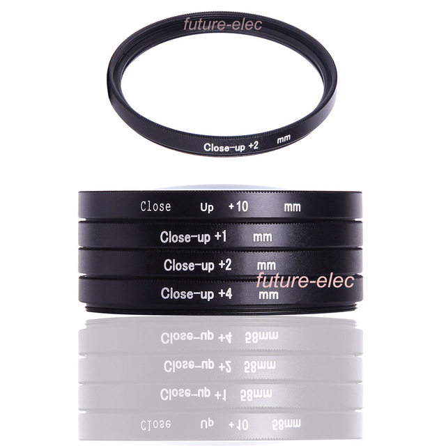 37 46 49 52 55 58 62 67 72 77 mm Close-up Close Up Filter Macro Lenses Filters Diopter +2 2 For Canon Nikon Sony Pentax SLR Lens