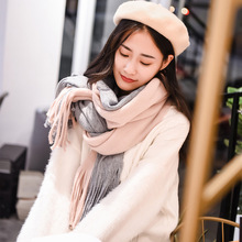 New Fashion Winter Scarf Women Solid Color Neck Warm Knitted Scarf Luxury Brand Ladies Cashmere Scarves and Shawls Drop Shipping