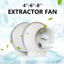 "4""6""8"" 220V Exhaust Fan Home Silent Inline Pipe Duct Fan Bathroom Extractor Ventilation Kitchen Toilet Wall Air Clean Ventilator"