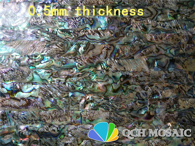 New Zealand abalone paua mother of pearl laminate sheet for musical instrument and wood inlay 10pcs/lot qch109 0.5mm thickness