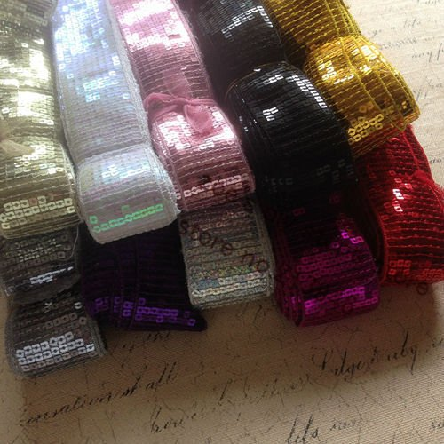 45MM 20Yards/pc Spangle Sequins Strings Paillette Cord Belt Line Garment / Jewelry Findings