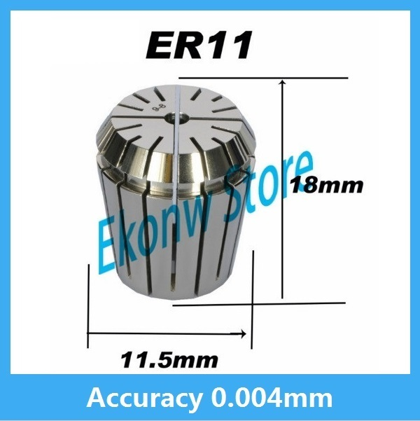 High precision ER11 Accuracy 0.004mm Spring Collet For CNC Milling Machine Engraving Lathe Tool Free Shipping