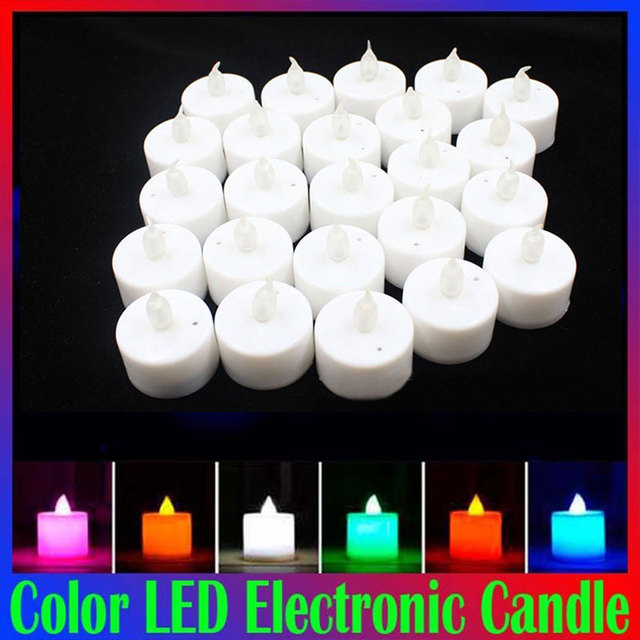Glow Candle Multicolor Practical New Luminous Products Courtship Display Plastic Beautiful Electronic Candles Drop Shipping