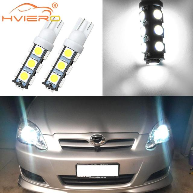 2X White T10 501 W5W 168 194 Bulbs 5050 SMD 13LED Auto Car Led Side Light Wedge Lamp Reading Light Tail Light Stop Light Dc 12V