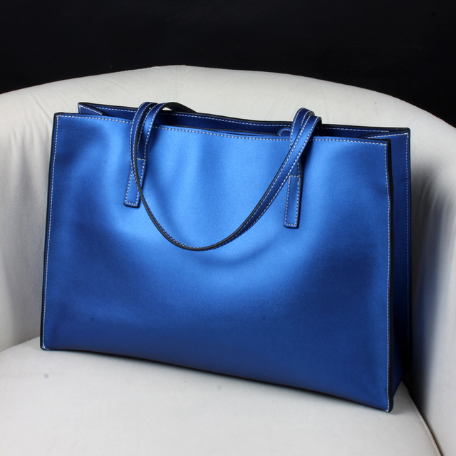 High quality Women casual tote bag fashion Cow Leather Mummy bags shopping bags ladies Commuter OL Shoulder Bag