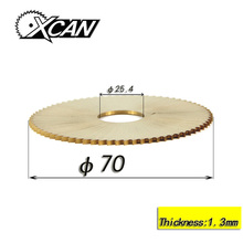 XCAN 70*1.3*25.4mm 72T key cutting machine blade for wenxing 100E 100E1 power tools circular saw blade Titanium lock pick tools