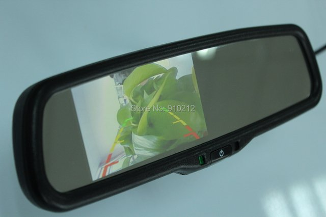 car reverse mirror/Multifunctional auto-dimming  rear view mirror/4.3INCH screen size