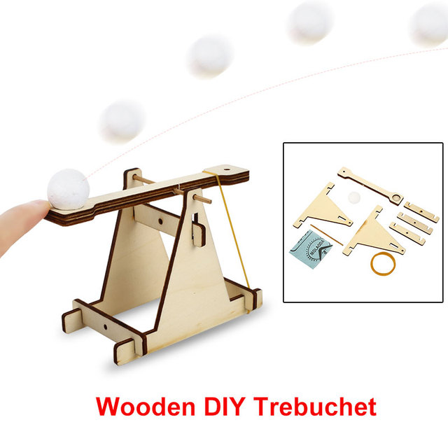 Easy Assembly Catapult Catapult DIY Toy Catapult Assembly Toy Wood 1 Set Collection Decor Diy Novelty Collection Toy Kids