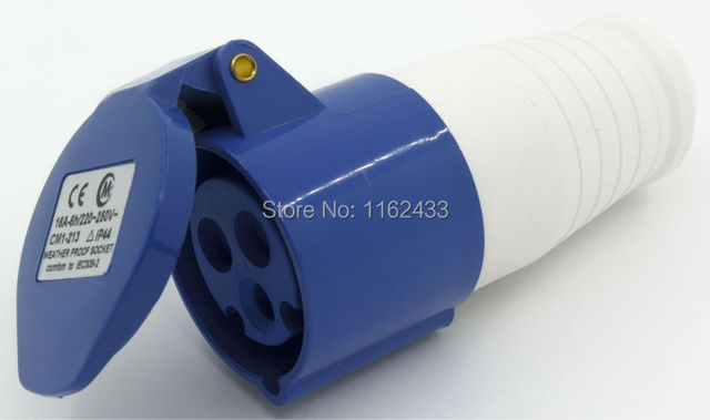 16A 2P E 3 pin 220-240V IP44 213 single phase splashproof industrial connector / coupler