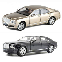 Simulation 1:18 Bentley Mulsanne Limousine Alloy Diecast Model Car Collection Toy Car Model Decoration Gift For Children