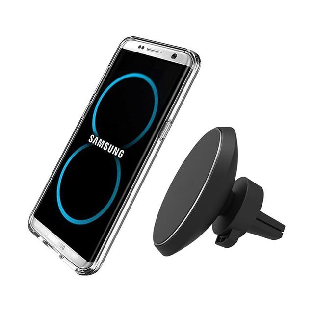 696 W3 wireless charge Magnetic Vehicle Holder QI Wireless Car Charger W3 for iPhone XS MAX/8/10/X/XR Samsung Galaxy S7 S8 Plus