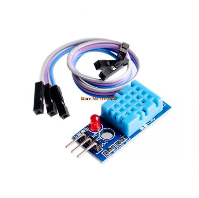 5pcs/lot DHT11 Temperature and Relative Humidity Sensor Module With Cable