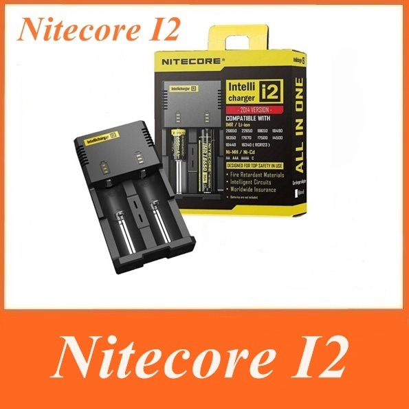 2015 New Nitecore Battery Charger for 16340 10440 AA AAA 14500 18650 battery Nitecore I2 Charger Free Shipping
