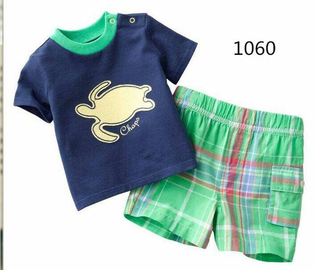 New Boy girls pyjamas New summer cotton kids clothes girls set short sleeve tshirt + shorts clothes sets Tracksuit Jellyfish
