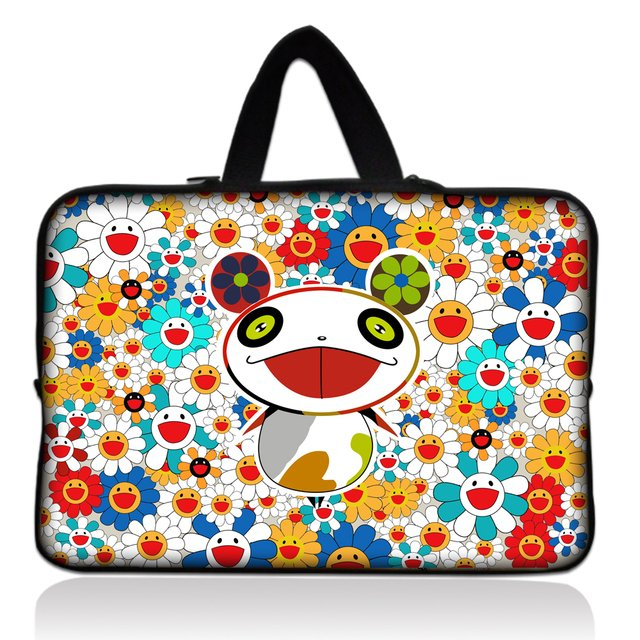 "Free Shipping Panda 13"" 13.3'' Neoprene Laptop Carrying Bag Sleeve Case Cover Holder For Apple Macbook Pro,Air,HP,DELL"