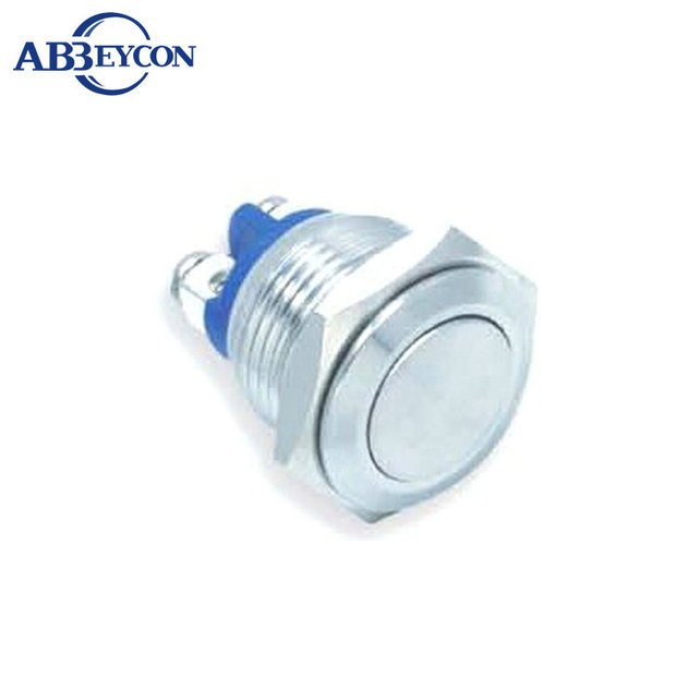 TY 1679 16mm 3A250VAC momentary wiring terminal nickel plated brass push button switch momentary waterproof switch