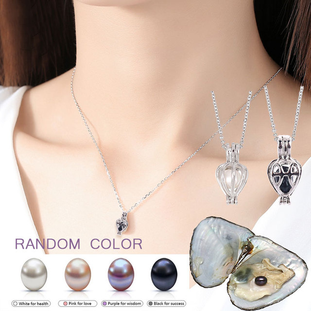 DIY Necklace Oyster Earrings & Ring Set Fashion Pearl Woman Pendant Jewelry Sets Bohemia Wedding Jewelry Gifts