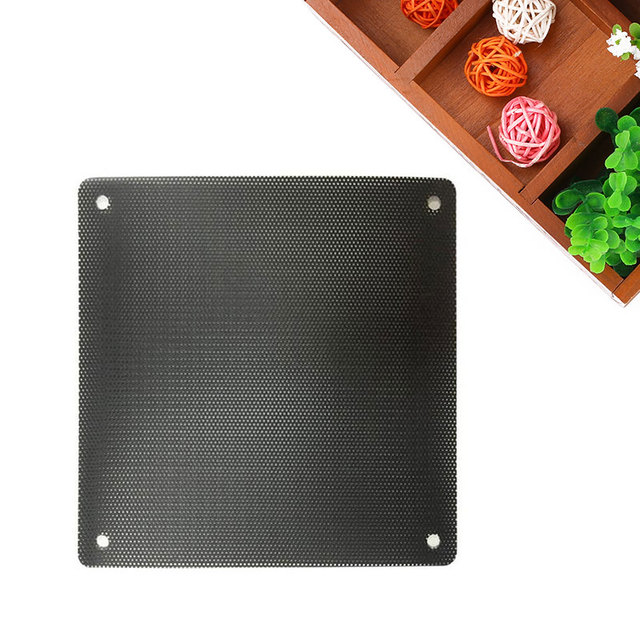 AMZDEAL 1pc 12cmx12cm Cutable Computer Cooling Fan Filter PC Dustproof Mesh on  Cooling Fan with 4pcs Screws