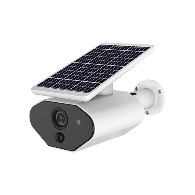 Ip65 Solar Powered Wireless Home Security Camera, Outdoor 2.4Ghz Wifi Ip Camera With Motion Detection Night-Vision, Wire-Free