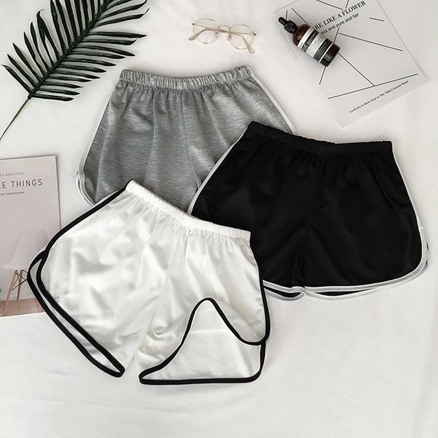 Summer Street Casual Female Stretch Shorts Women Shorts Women All-match Loose Solid Soft Cotton Blend Casual