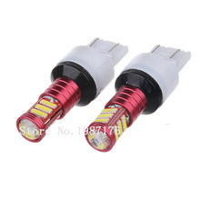 Auto LED 7443 W21/5W W3x16q 7020 11 SMD Cold white/Red/Yellow 12V Car light Brake/Turn/Tail signal lamp bulb.