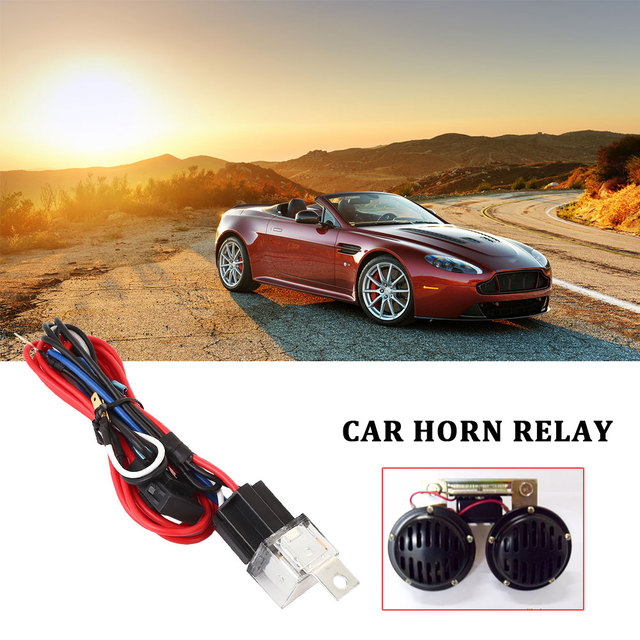 Wiring Harness Snail Horn Connector Accessories Durable Replacement Car Automobile 30A with Fuse Horn Controller Modification