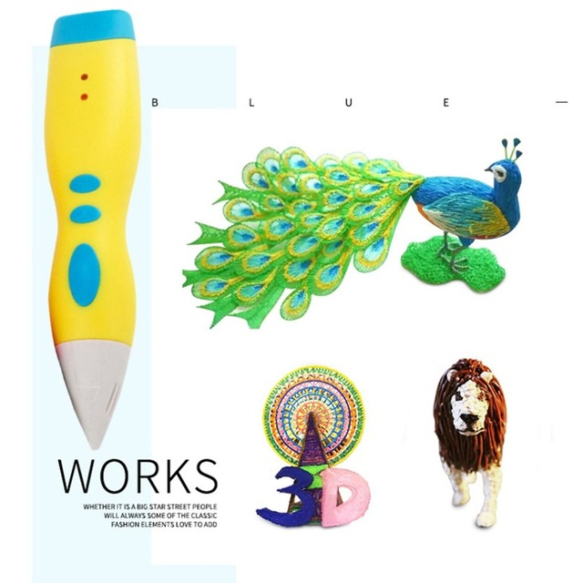 3D Printing Pen DIY 3D Drawing Printer Pen Creative Painting Tool Best for Kids Child 3D Painting Birthday Gift Present