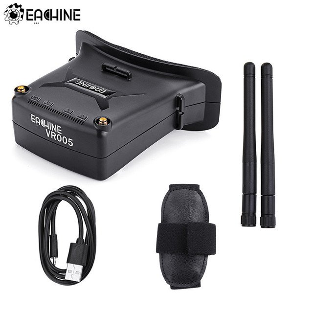 Eachine VR005 2.7 Inch 5.8G 48CH HD FPV Goggles Raceband Auto-Search With Dual Antennas 3.7V 1000mAh Battery For RC Drone