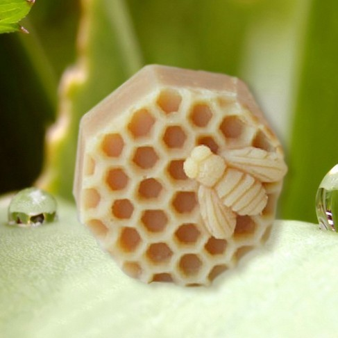 """2.5"""" Bee Honeycomb 50188 Craft Art Silicone Soap mold Craft Molds DIY"""